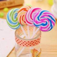 ingrosso eraser di lollipop-Articoli da regalo Cartoon Eraser Candy divertente eraser di gomma di Office e Studio graziosi bambini cancelleria della novità Lollipop cancellatori