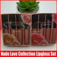 Wholesale nude lipstick collection for sale - Group buy Lip Makeup Liquid Matte Minis Lipstick Set Nude Pink Collection edtion makeup Lip Gloss Set
