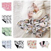 Wholesale burgundy jacquard bedding for sale - Group buy Baby Swaddle Blanket Newborn Infant Photography Wrap Blankets cm Bear Animal Floral Printed Swaddling Kids Bedding Mat Towel GGA2278