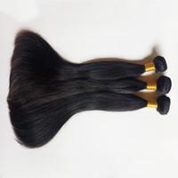 Wholesale 3pc brazilian remy hair resale online - Brazilian virgin Human Hair Weave pc Remy Indian cheap Hair weft Extension Hot sale A grade Peruvian Human natural straight hair