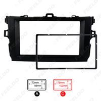 toyota corolla kits großhandel-Schwarz 2DIN Auto, das Radio Stereo-DVD-Rahmen Fascia Armaturenbrett Montage-Kits für Toyota Corolla (08 ~ 10) # 2684
