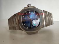 en iyi saat kılıfları toptan satış-PF Klasik Best Edition V2 sürüm 5711-1 P Mavi Kadran Cal.324 SC Otomatik Hareketi 28800 5711-1A Mens Watch Safir Cam 316L Çelik Kasa