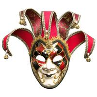 полная маскарад маски мужчин оптовых-Sparkle Masquerade Venetian Mask Праздничная вечеринка Унисекс Модные маски Личность мужчины Полнолицевая маска Праздничные атрибуты