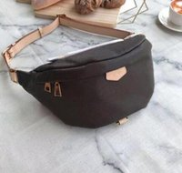 Wholesale small waist bags leather resale online - New Classic Women Men Printing Flower Letters Waist Bags Crossbody Belt Bag Messenger Bags Bumbag Leather Cross Fanny Pack