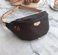 Wholesale leather waist fanny packs resale online - New Classic Women Men Printing Flower Letters Waist Bags Crossbody Belt Bag Messenger Bags Bumbag Leather Cross Fanny Pack
