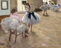 Wholesale ballet frames resale online - The Ballet Lesson By Edgar Degas Handpainted Impressionist Portrait Art Oil Painting On High Quality Canvas Home Decor Wall Art p214