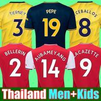 mejores kits de fútbol al por mayor-HOMBRES + niños 2019 2020 kits de fútbol PEPE AUBAMEYANG LACAZETTE BELLERIN Arsenal camiseta de fútbol 19 20 kits de fútbol camiseta de fútbol camisetas de fútbol