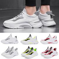 açık hava ayakkabıları kamp toptan satış-Shoes Atletik Koşu Ayakkabı Beyaz Gri Yeşil Moda Sneakers Açık Yürüyüş Kamp Tenis Ayakkabıları Koşu Hafif Kadınlar Mens