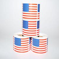 adesivo do dia venda por atacado-Bandeiras americanas Bandeiras Etiqueta Trump Etiqueta Americano Eleição Dia da Independência americano adesivos Usa Bandeira nacional ZZA1184