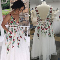 Wholesale black prom dresses sale resale online - Appliques White Pockets Sleeveless Prom Dresses Vestidos De Festa In Stock Hot Sales High end Occasion Dress