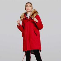 2f7b2e351449f Kadınlar Kış Parkas Desen Yastıklı Ceket Hoodies Kabanlar Tops Pamuk Uzun  Coat Faux Fur Sıcak Bayanlar Pamuk Ceket Kalınlaştırmak
