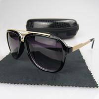 старинные солнцезащитные очки для мужчин оптовых-Высокое качество Vintage Ретро Солнцезащитные Очки Пилот Солнцезащитные очки UV400 Мода Мужчины Женщины Вождение Спортивные очки с Коробкой
