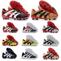 ag futbol ayakkabıları erkekler toptan satış-Resto Predator Hassas Hızlandırıcı Elektrik FG DB AG V 5 Erkekler Futbol Ayakkabı Cleats Beckham 1998 98 Olur 98 Futbol Çizmeler Boyutu 39-45