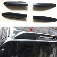 багажник для автомобиля оптовых-For Toyota Prado FJ120 2003-2009 Front&back Top Roof Rails Rack End Cover Cap Trim Black Car-styling accessories