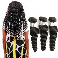 comprar 22 pulgadas de pelo brasileño al por mayor-Paquetes de cabello brasileño de onda suelta 100% tejido de cabello humano Extensión de cabello negro natural Remy 8-28 pulgadas puede comprar 1/3/4 piezas