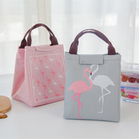 Wholesale sings flower resale online - Picnic Bento Bag Portable Thermal Insulation Bag Waterproof Cooling Bag Cartoon Birds Singing And Flowering Aluminum Case Fashion lc k1