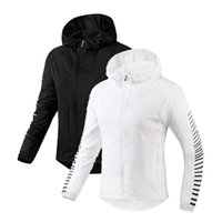 Wholesale polyester sport jackets for women resale online – Brand Sports Women Jackets Letter Printed Thin Windbreaker Quick Dry Running Gym Clothes Colors Skin Coat for Femme