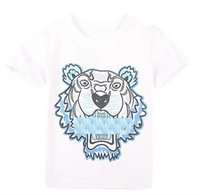 Wholesale girls clothes tiger for sale - Group buy new Summer T Shirts For Boy Girl Tops Tiger Head Letter printing T Shirt Boy Clothing Brand Short Sleeve Tshirt Kids Tops