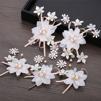 Wholesale wedding dress flower pins for sale - Group buy 5 Flower Hair Ornaments Sweet Bridal Hair Pins Jewelry For Girls Headpiece Wedding Dress Accessories Female Wedding Jewelry