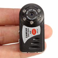 Wholesale small p2p camera resale online - Portable P2P Wireless remote HD network camera Infrared Mini Video recorder P night vision WIFI Q7 digital camera Small Mini DV Camcorder