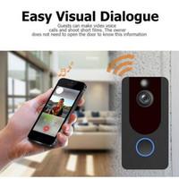ingrosso campanelli wireless impermeabili-Hot V7 Smart WiFi Video Campanello HD 1080P con campanello Impermeabile Night Vision Cloud Storage IP Campanello Wireless Telecamera di sicurezza domestica