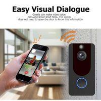 Wholesale waterproof doorbells for sale - Group buy Hot V7 Smart WiFi Video Doorbell HD P Camera with Chime Waterproof Night Vision Cloud Storage IP Door Bell Wireless Home Security Camera