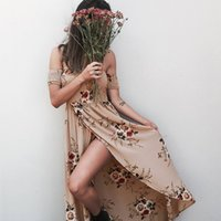 Wholesale pop up clothes online - Women Clothes Chest wrapped Print Dress Seaside Holiday Fashionable Temperament Outstanding Style Designer Dress color yard Pop up