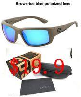 e4ecee230 (Promoções cronometradas Frete Grátis) Top Quality New lente Polarizada  Para Homens Mulheres Costa óculos de sol Ao Ar Livre praia Esporte Óculos  de Sol ...