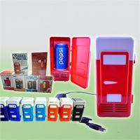 nevera de coche fresco al por mayor-Mini refrigerador USB Pequeño refrigerador de coche Ajuste de bebidas Bebidas Almacenamiento Caja de aislamiento térmico portátil Wamer Cooler 2 Estilos Modo 58wx E1