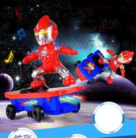 ingrosso giocattoli genuini-RC Skateboard Spiderman Scooter Mai Cadere Genuini Giocattoli Suono Leggero Flash Fresco Elettronico Giocattolo Elettrico Per Bambini giocattoli Regalo PartyRC Skate