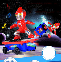 juguetes genuinos al por mayor-RC Skateboard Spiderman Scooter Nunca se caiga Genuino Light Sound Toys Flash Cool Electronic Juguete eléctrico para niños juguetes regalo PartyRC Skate