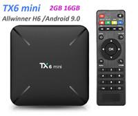 Wholesale smart tv vs android box resale online - TX6 mini Smart TV BOX Android GB GB Allwinner H6 Quad Core HDR K G Wifi VS X96 MXQ mini