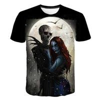 ingrosso torretta della maglietta-2019 New Jack Skellington T-shirt T-shirt maschile T-shirt 3d femminile Halloween manica corta Camuset Tower Street outf