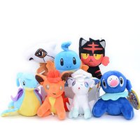 Wholesale lapras toy for sale - Group buy High Quality Cotton Litten Vulpix Lapras Mudkip Cubone Plush Toy Keychain Pendant For Child Holiday Best Gifts cm