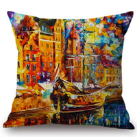 Wholesale impressions painting for sale - Group buy Europe Impressionism Oil Painting Venice Impression Colorful Gallery Collection Home Decorative Sofa Pillow Case Cushion Cover