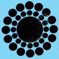 espejo de vinilo autoadhesivo al por mayor-Pegatinas de pared de acrílico del papel pintado contemporáneo 33 PC / sistema 3D Espejo etiqueta del vinilo auto adhesivo Decoración del hogar