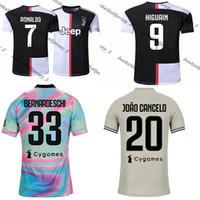 maillot de foot camisas achat en gros de-RONALDO JUVENTUS Maillot 19 20 JUVE Domicile Extérieur DYBALA HIGUAIN BUFFON Camisetas Football Camisas Maillot 2019 2019 Football