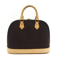 Wholesale bb reds resale online - Hot ALMA BB Shell bag High quality leather shoulder bags Classic Damier Women Famous Brand designer Handbags check bag M53151