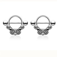 Wholesale animal nipple rings for sale - Group buy D0702 color Nipple Black color Navel Belly Button Ring piercing body jewlery belly ring Body Jewelry