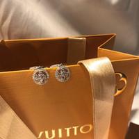 brincos de prata de luxo venda por atacado-luxo designer de jóias mulheres brincos cc brincos sliver brincos de argola de diamante 925 prata esterlina