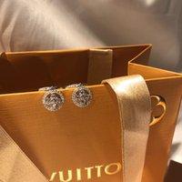 kristallperle shamballa großhandel-luxus designer schmuck frauen ohrringe cc ohrringe splitter ohrringe diamantreifen 925 sterling silber