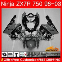 ingrosso kit corporeo zx7r-Corpo per KAWASAKI NINJA ZX-750 ZX-7R ZX750 ZX 7R 96 97 grigio nero caldo 98 99 28HC.55 ZX 7 R ZX 750 ZX7R 1996 1997 1998 1999 2000 Kit carenatura
