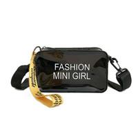 модная летняя клатч оптовых-Fashion Ccrossbody Bags for Women 2019 Cute Mini Shoulder Bag Clear Transparent Purses and Handbags Clutch Summer Beach Tote Bag