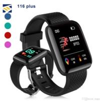 contador de niños al por mayor-116 Las pulseras de Aptitud SmartWatch Rastreador de frecuencia cardíaca contador de paso Activity Monitor Banda Muñequera PK 115 PLUS para Android iPhone