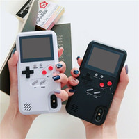 Wholesale phone stores resale online - Color screen Game phone case Handheld Games Consoles Retro Classic Game Console can store games For iphone XR XS Max