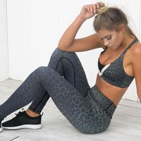 calças de leopardo branco preto venda por atacado-Sexy leopardo impresso esporte leggings mulheres brancas pretas calças de fitness yoga ginásio atlético leggings elástico desgaste do esporte calças 2018 # 565671