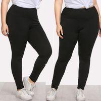 ingrosso collant nero delle donne più il formato-Donna Plus Size Donna Leggings sexy Pantaloni sportivi Pantaloni Solid Pencil Pants Large Black Tights pista flessibile Sportswear