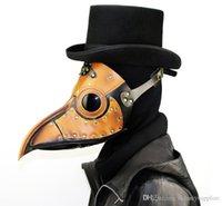 tatil maskeli maskeleri toptan satış-Cadılar bayramı Kuş maskesi Gaga maskesi uzun burun masquerade maske steampunk karnaval cosplay kostüm sahne yılbaşı tatil parti A02
