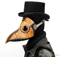 Wholesale birds mask resale online - Halloween Bird mask Beak mask long nose masquerade mask steampunk carnival cosplay costume props christmas holiday party A02