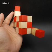 пазлы для мозговых тестов оптовых-Деревянный Дракон Хвост Куб Игрушка-Головоломка IQ Brain Teaser Обучение Тест Подарок Игрушка